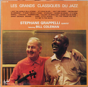 Stéphane Grappelli & Bill Coleman LP Vinyl Near-Mint