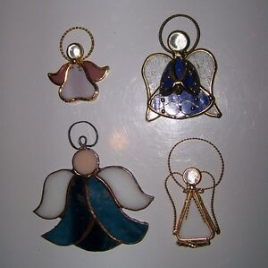 4 Stained Glass Angels