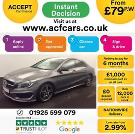 2016 GREY MERCEDES CLA220 2.1 AMG SPORT DIESEL AUTO COUPE CAR FINANCE FROM 79 PW