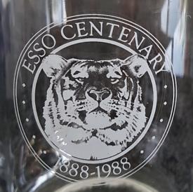 Esso centenary 1888-1988 glass tankard