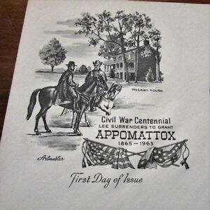 TWO 1965 Appomattox Civil War Centennial 5 Cent First Day Covers Kitchener / Waterloo Kitchener Area image 7