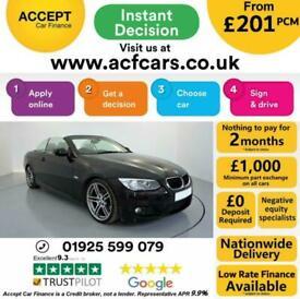 image for 2013 BLACK BMW 320D 2.0 M SPORT AUTO 2DR CONVERTIBLE CAR FINANCE FR £201 PCM
