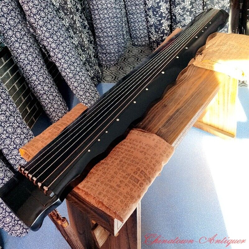 """48"""" Professional Guqin Chinese 7-stringed zither instrument Sunset-gstyle #4057"""