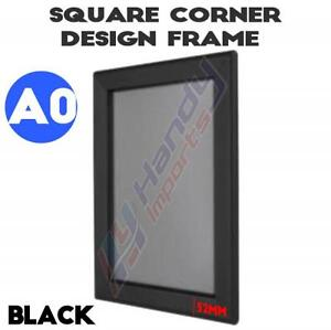 BRAND NEW A0 Heavy Duty Black Square Corner Snap Frame /Poster Frame 32MM