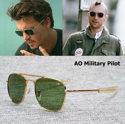 American 70's Aviator Sunglasses Men AO Pilot Army Military Eyewear Glasses (Best Mens Eyewear)