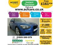 2014 BLUE BMW 116D 2.0 M SPORT DIESEL MANUAL 5DR HATCH CAR FINANCE FR £161 PCM