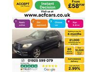 2012 GREY MERCEDES ML250 2.1 CDI SPORT DIESEL AUTO 4X4 CAR FINANCE FROM 58 P/WK