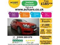 2014 RED MERCEDES A200 1.8 CDI AMG SPORT DIESEL MANUAL CAR FINANCE FR £185 PCM