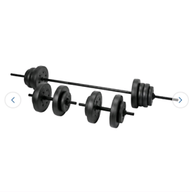 50kg Opti Vinyl Barbell and Dumbbell Weight Set