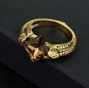 Ring Deathly Resurrection Horcrux Ring Crystal Black Stone Bronze UK
