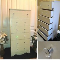 Beautiful Mid Century Antique, Hand Made 6-Drawers FIR Tall Boy