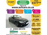 2012 BLACK BMW 320D 2.0 M SPORT DIESEL MAN CONVERTIBLE CAR FINANCE FR £177 PCM
