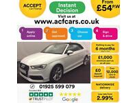 2014 WHITE AUDI A3 CABRIOLET 1.4 TFSI 150 S LINE PETROL CAR FINANCE FROM 54 P/WK