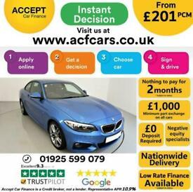 image for 2015 BLUE BMW 218D 2.0 M SPORT DIESEL MANUAL 2DR COUPE CAR FINANCE FR £201 PCM