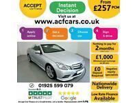 2013 SILVER MERCEDES E220 2.1 CDI SPORT 2DR CONVERTIBLE CAR FINANCE FR £257 PCM