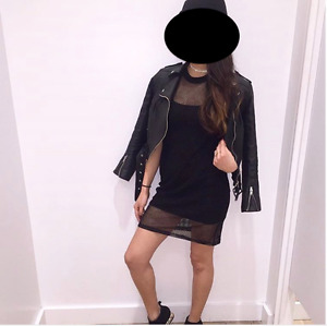Mesh Dress (Black Slip + Mesh) from M Boutique