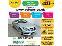2014 SILVER MERCEDES E220 2.1 CDI AMG SPORT CONVERTIBLE CAR FINANCE FR £321 PCM