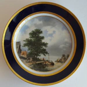 KAISER GERMANY COLLECTOR PLATE DUTCH RIVER SCENE