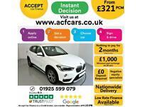 2017 WHITE BMW X1 2.0 XDRIVE18D X LINE DIESEL AUTO CAR FINANCE FR £321 PCM