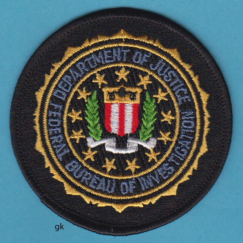 "FBI DEPARTMENT OF JUSTICE POLICE SHOULDER PATCH (3"")"