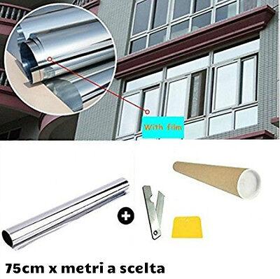 Pellicole silver adesive Controllo Solare a specchio per finestre cutter/spatola