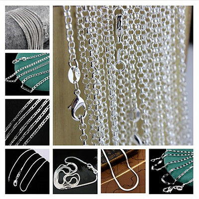 Wholesale 925 Sterling Silver Figaro Bead Rolo Snake Chain Necklace For Pendant