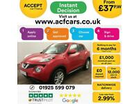 2016 RED NISSAN JUKE 1.2 DIG-T ACENTA PETROL HATCHBACK CAR FINANCE FR £37 PW