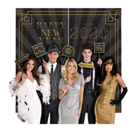 Gatsby 20's Style Photobooth Backdrop and Photobooth Props