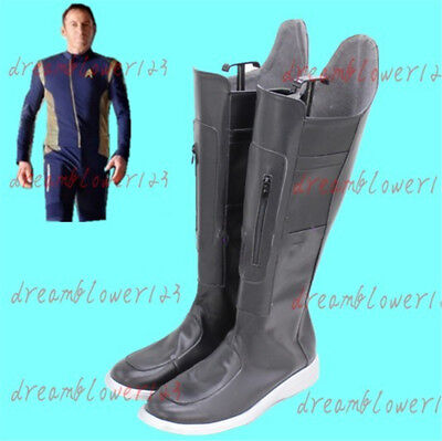 Movie Star Trek Discovery Michael Burnham Black Boots Cosplay Shoes Cos Shoes