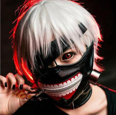 Cosplay Tokyo Ghoul Kaneki Ken Zipper Masks Adjustable Mask Halloween Costume - Ghoul Mask