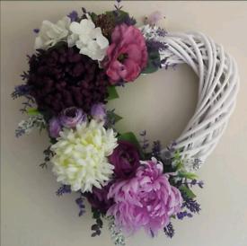 Artificial flower door wreath or home decor
