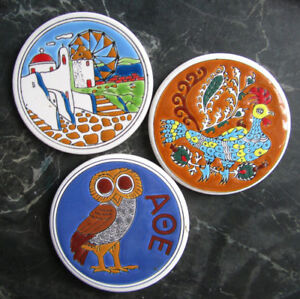 Handmade Ceramic Coasters from Greece