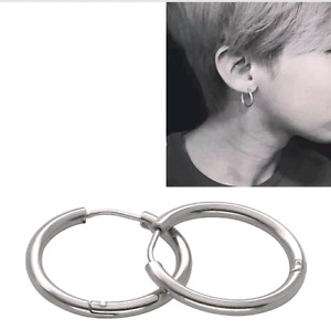 1 Pair Stainless Steel Dancer Cool Big/Small Hoop Huggie Earring