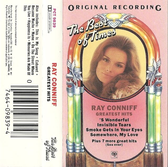 Ray Conniff's Greatest Hits (Cassette, 1987 Columbia Records) USED VG