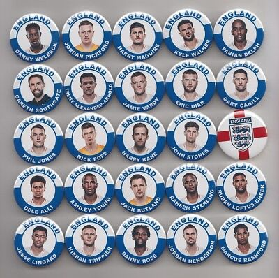 ENGLAND SQUAD WORLD CUP 2018 v CROATIA BADGES  X  25    38mm  IN SIZE * SALE *