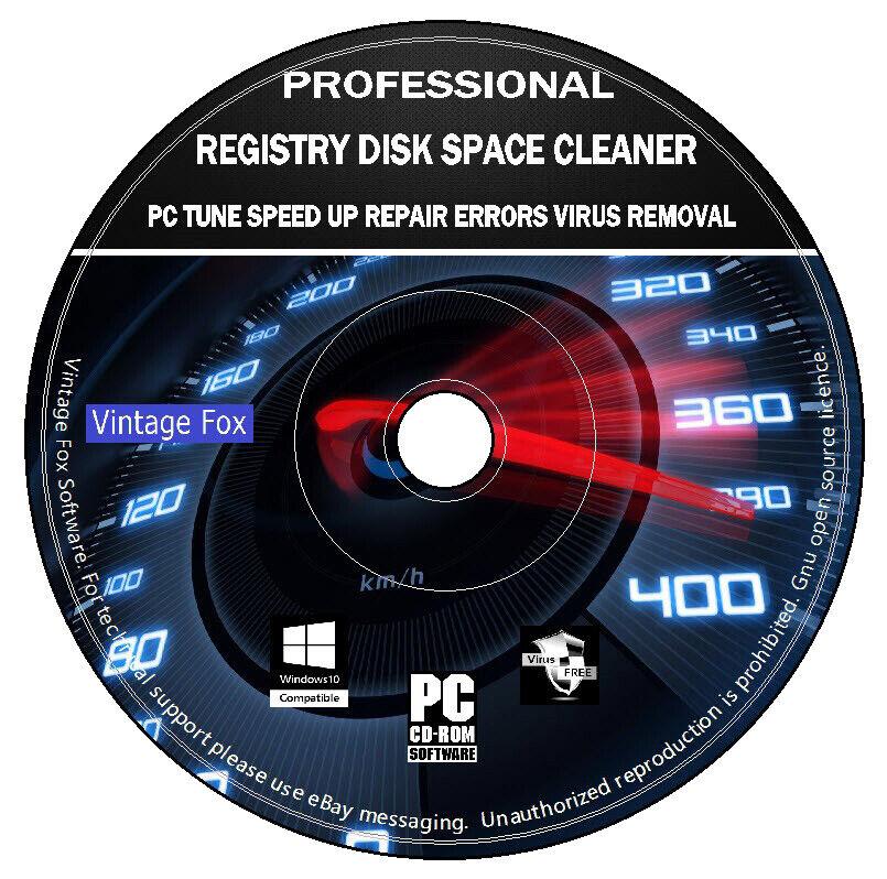 Registry Disk Space Cleaner Tuneup SpeedUp Errors Repair Errors Removal PC CD