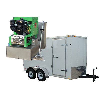 New 14HP Panther Carpet Tile & Air Duct Cleaning Equipment Machine Trailer