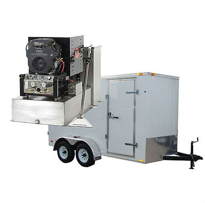 New Panther 19HP Carpet Tile & Air Duct Cleaning Equipment Machine Trailer Pkg