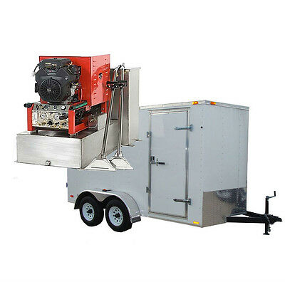 23.5hp Panther Truck Mount Carpet Tile And Air Duct Cleaning Equipment Trailer