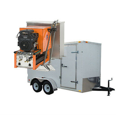 27HP Panther Truck Mount Carpet, Tile, and Air Duct Cleaning Equipment Trailer