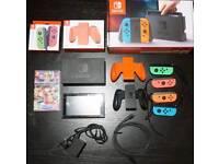 Nintendo Switch Bundle w/ MarioKart, 2 Joycon Pairs FULLY BOXED