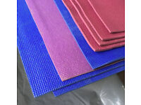 Yoga/Pilates mats, blocks, mixed colours, used