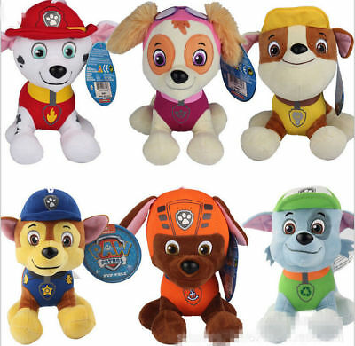 PAW PATROL COMPLETE SET of 6 Cute Dogs plush Doll Dog Toy Chase Zuma 12CM 4.7""