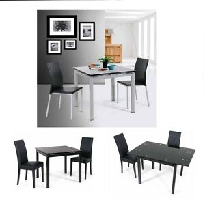Tavolo quadrato metallo vetro cucina salotto soggiorno for Tavolo salotto allungabile