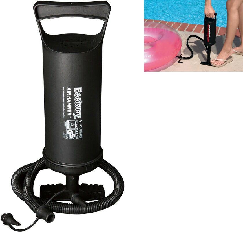 Luftpumpe Handpumpe Hubpumpe Standpumpe Doppelhubpumpe  Pool Boot Bett 30cm S10