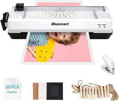 Blusmart Thermal Laminator Machine A4 Home Office Laminating Pouches Photo Card