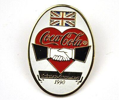Coca-Cola Coke USA Lapel Pin Anstecknadel - Salute Herz Handshake Union Jack