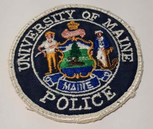 University of Maine Maine ME Police Patch Vintage