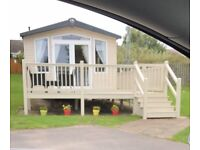 Marton Mere caravan to rent 3 bed, 8 berth prestige with wrap around decking