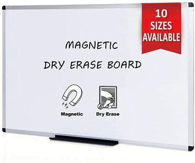 Viz-pro Magnetic Dry Erase Board Whiteboard Silver Aluminium Frame